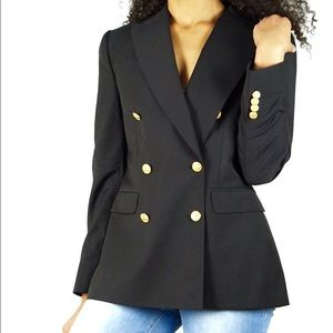 Brooks Brother Navy Wool Double a Breasted Blazer